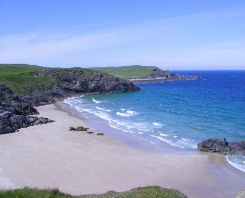A typical NC500 Sandy beach near Smoo cave